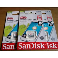 Sandiskk Micro SD Ultra + Adapter 64 GB Class 10 48MBs 320x - OEM
