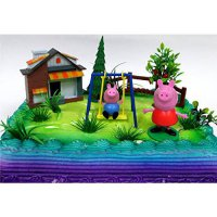 [poledit] Cake Topper PEPPA PIG 12 Piece Birthday CAKE Topper Set, Featuring Peppa Pig and/14117300