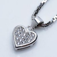 Kalung Luxury White Gold Plated 122 Free Rantai & Box & Pouch Cantik