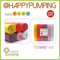R.E.A.D.Y Bedong Baby Chaz isi 6 - Flower set