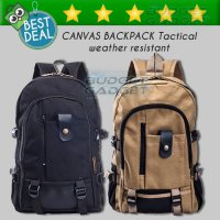 Termurah! TAS RANSEL MENS CASUAL CANVAS SHOULDER TRAVEL BAG - HM104