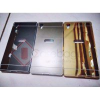 Metal Bumper Case with Mirror Cover - Sony Xperia Z5 5.2' (5.2 inch)
