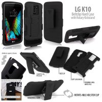 LG K10 Beltclip Hard Case with Rotary Kickstand Casing Cover