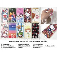 Oppo Neo 9 A37 - Ultra Thin Softshell Gambar (Case Cover Casing Sarung Silikon Jelly Kondom)