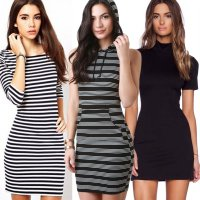 Midi Dress / Mini Dress / Olla Dress / Turtleneck / Salur / Brukat / Dress Belah / Polos / Bodycon