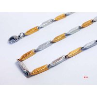 VeE Rantai Kalung Titanium 316L Stainless Steel Silver Gold 35mm x 750mm - K15