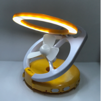 lampu emergency + kipas usb led 2 in 1 7780
