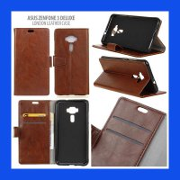 Asus Zenfone 3 Deluxe ZS570KL London Style Leather Case Casing Cover