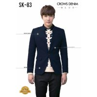 Jas Blazer Navy Single Button Korean Style SK 83