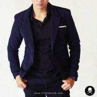 Jas Navy Formal Single Button Korean Style SK84