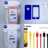 Paket 360 Iphone 5 / 5s /SE hybrid case + tempered glass + remax cable