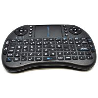 Keyboard Wireless 2.4GHz dengan Touch Pad & Fungsi Mouse - Black