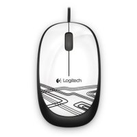 Logitech Wired Mouse - M105 - White