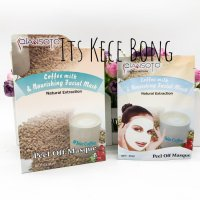 [DISKON] [SACHET] QIANSOTO Coffee Milk and Nourishing Facial Mask 35ml BPOM
