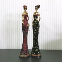 [Pepper shaker] [My art] African women 2p set / doll / doll India / Africa / Marvel / Decorative Accessories / Ceramics / gift / housewarming / life