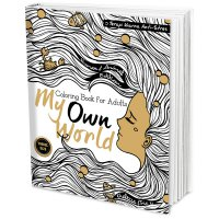 My Own World Travel Size: Coloring Book for Adults (Terapi Warna Anti-Stres) Edisi Human & Animal