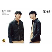 Leather Jacket Black Korean Style SK 98