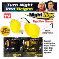 Kacamata Anti Silau di Malam Hari Anti UV - Night View Glasses Vision OK