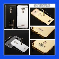 Asus Zenfone 3 Deluxe ZS570KL Metal Bumper With Mirror Back Plate Case Casing Cover