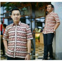 (TENABANG OFFICIAL) KEMEJA PRIA HEM DOMINIC KATUN FULL PRINTING ALL SIZE FIT TO L | MC00034R|SHIRT