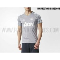 (Star Product) JERSEY TRAINING PREMATCH MANCHESTER UNITED ABU 2017/2018