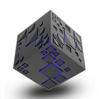 GoesTime Magic Cube Portable Bluetooth Speaker with Handsfree Function - Black