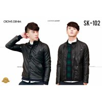 Leather Jacket Black Korean Style SK 102