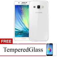 Case for Samsung Galaxy C7 - Clear + Gratis Tempered Glass - Ultra Thin Soft Case