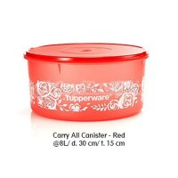 Tupperware Carry All Canister - Red