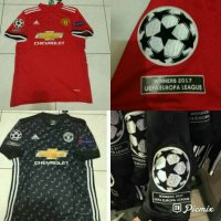 [Ready] Jersey Baju Bola MU Manchester United Home Away 3rd 17/18 + Patch UEL