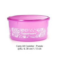 Tupperware Carry All Canister - Purple
