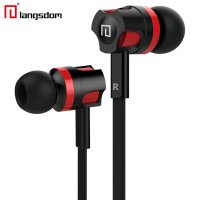 Langsdom Dynamic Super Bass Earphone dengan Mic - JM26 - Black/Red