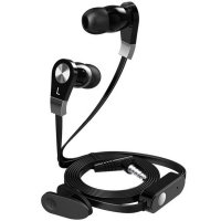 Langsdom Millet Super Bass Earphone dengan Mic - JM02 - Black Kabel