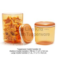 Tupperware Crystal Canister (2pcs Toples Kue Mewah)