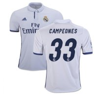 (Star Product) Jersey Baju Bola Real Madrid Home 16/17 Grade ORi LA Liga Winner 33