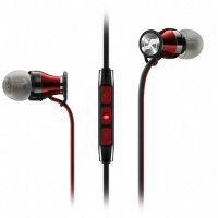 Sennheiser Momentum In-Ear Earphone with Microphone - iOS Version - Red Kabel