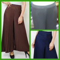 PLEATS LONG PANTS - CELANA KULOT PRISKIT