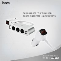 HOCO Car charger Z13 dual USB three cigarette lighter ports