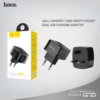 "HOCO Wall charger C26A Mighty power"" dual USB charging adapter"