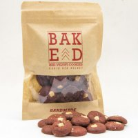 Red velvet cookies Baked ID (Isi 4 Pouch)
