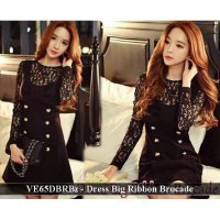 Grosir Dress Murah Wanita / VE65DBRBz - Dress big ribbon brocade