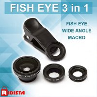 Universal Clip Lens 3 in 1 ( Fish Eye, Super Wide & Macro ) T247