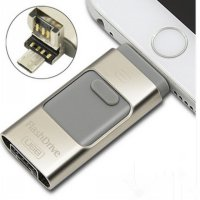 Flashdrive Flashdisk OTG IPHONE 3IN1 128GB For All IPhone Ipod IPad Pc Android