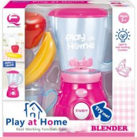 Mainan Masak Masakan PLAY AT HOME Blender With Light and Sound Playset