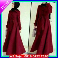 (Gamis) Long Coat Lotto Abudhabi Maroon