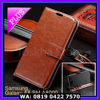 (Casing & Cover) Samsung A8 SM A8000 Wallet Case Premium Leather