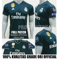 NEW JERSEY BOLA REAL MADRID AWAY 2018-2019 FULL PATCH GRADE ORI Murah