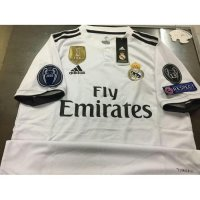 NEW Jersey Baju Bola Real Madrid Home FULL PATCH UCL 2018/19 Murah