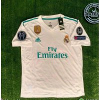 NEW Jersey Real Madrid Home FULLPATCH UCL 2017/2018 grade ori official Murah