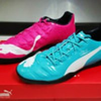 NEW Sepatu Futsal Puma Evopower Tricks Blue Pink Murah